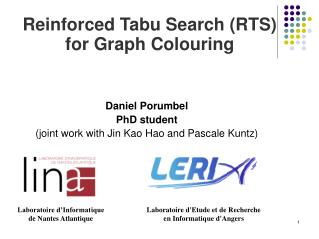 Reinforced Tabu Search (RTS) for Graph Colouring