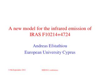 A new model for the infrared emission of IRAS F10214+4724