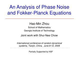 An Analysis of Phase Noise and Fokker-Planck Equations
