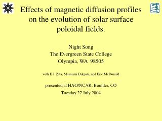 Effects of magnetic diffusion profiles on the evolution of solar surface poloidal fields.