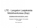 LTE - Langaton Laajakaista Mobiiliverkoissa 6op