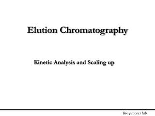 Elution Chromatography