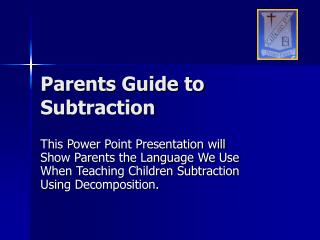 Parents Guide to Subtraction
