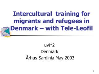 Intercultural  training for migrants and refugees in Denmark – with Tele-Leofil