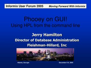 Phooey on GUI! Using HPL from the command line