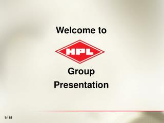 Welcome to Group Presentation