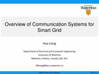 Overview of Communication Systems for Smart Grid