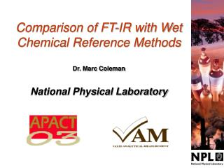 Comparison of FT-IR with Wet Chemical Reference Methods