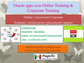 ORACLE APPS SCM online training in canada