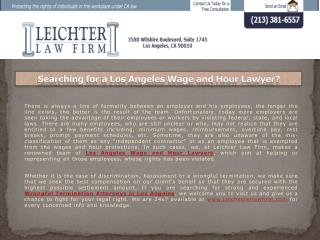 Searching for a Los Angeles Wage and Hour Lawyer?