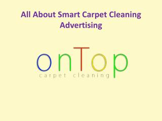 All about smart carpet cleaning advertising