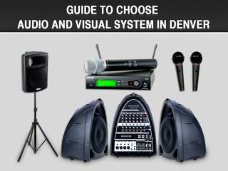 Sound System Rental Denver - Denver Laptop Rental