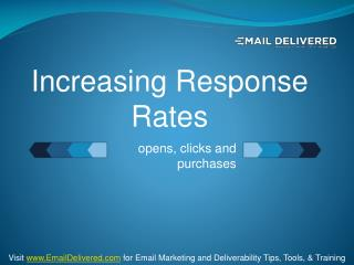 Increase your Response Rates