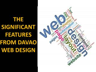 THE SIGNIFICANT FEATURES FROM DAVAO WEB DESIGN