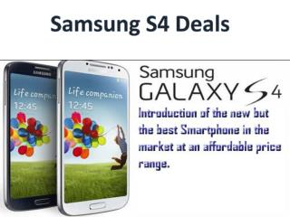 Samsung S4 Deals- Grab This Offer Which Is Economically Chea