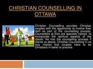Christian Counsellor In Ottawa