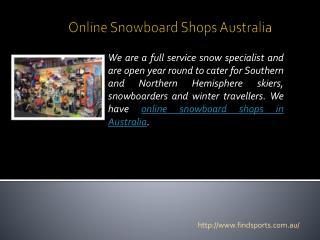 Online Snowboard Shops Australia