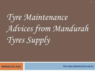 Tyre Maintenance Advices from Mandurah Tyres Supply