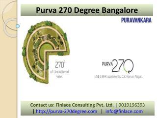 Purva 270 Degree Bangalore | 9019196393 | Best Projects
