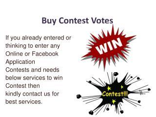 Buy Contest Votes