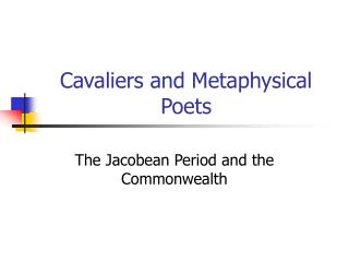 essays on the metaphysical poets