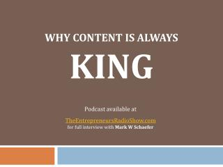 Why content is always king