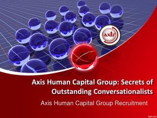 Secrets of Outstanding Conversationalists