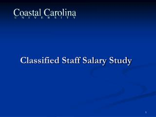 Classified Staff Salary Study