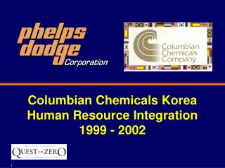 Columbian Chemicals Korea Human Resource Integration 1999 - 2002