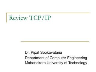 Review TCP/IP