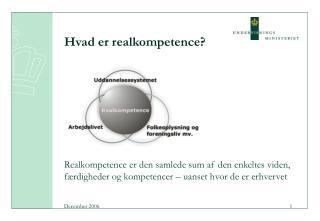 Hvad er realkompetence?