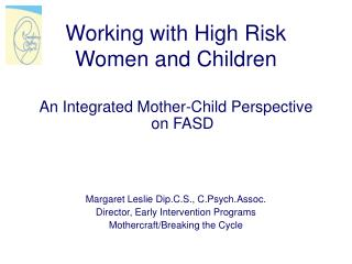 Working with High Risk Women and Children