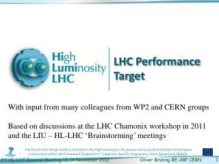 LHC Performance Target