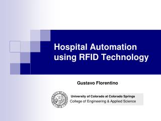 Hospital Automation using RFID Technology