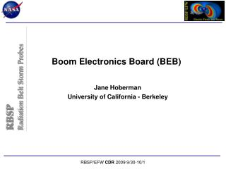 Boom Electronics Board (BEB)
