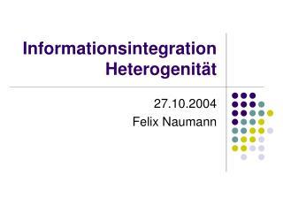Informationsintegration Heterogenität