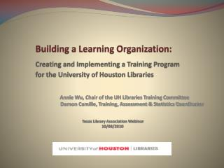 Annie Wu, Chair of the UH Libraries Training Committee