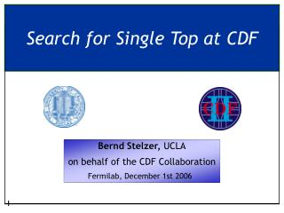 Search for Single Top at CDF