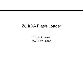 Z8 IrDA Flash Loader