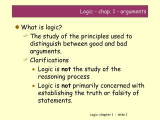 Logic - chap. 1 - arguments