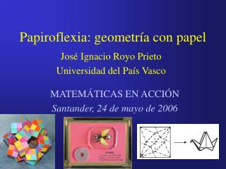 Papiroflexia: geometría con papel