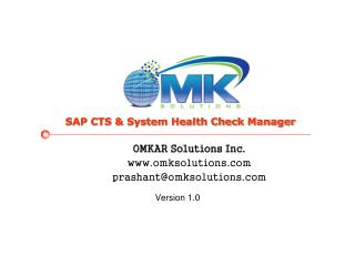 OMKAR Solutions Inc. omksolutions prashant@omksolutions