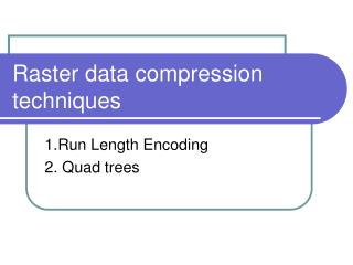 Raster data compression techniques