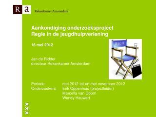 Aankondiging onderzoeksproject Regie in de jeugdhulpverlening