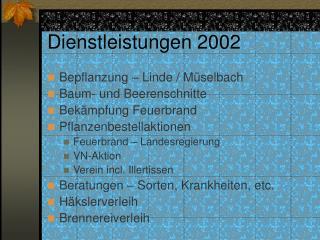 Dienstleistungen 2002