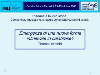 Carini – Erice – Terrasini, 23-25 ottobre 2008