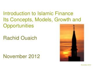 Introduction to Islamic Finance  Its Concepts, Models, Growth and Opportunities Rachid Ouaich