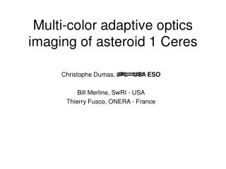 Multi-color adaptive optics imaging of asteroid 1 Ceres