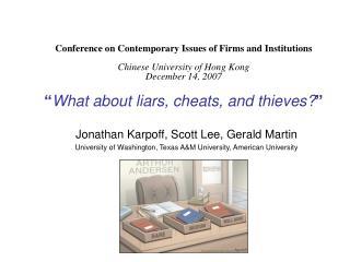 Jonathan Karpoff, Scott Lee, Gerald Martin
