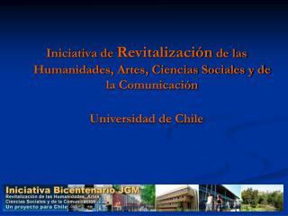 Iniciativa de  Revitalización  de las Humanidades, Artes, Ciencias Sociales y de la Comunicación